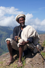 A monk in the Simien trek – to a large gallery picture