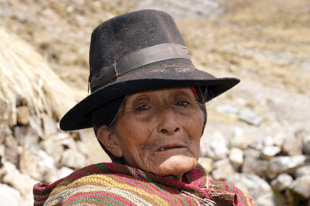 Peruvian old woman