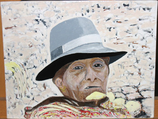 Peruvian old woman, 2008