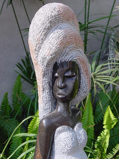 A woman stone sculpture in Chapungu, Harare, Zimbabwe 2000