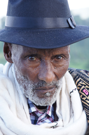 An elder of the community of Deber Tabor village, 2012