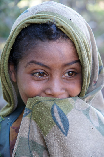 A shy girl, Simien Mountains National Park 2012