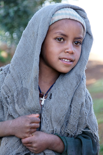 A village girl, Simien Mountains National Park 2012