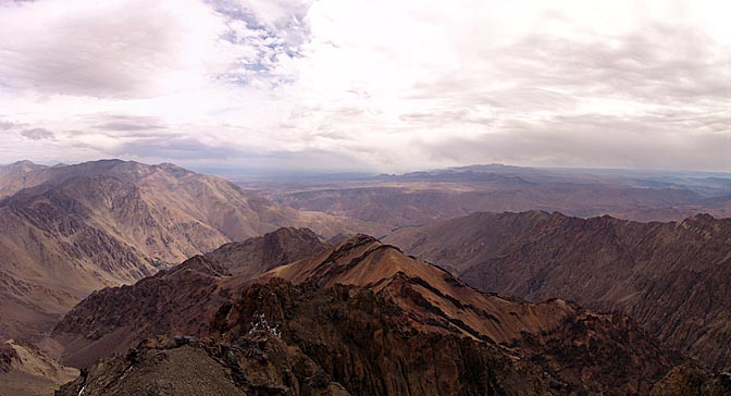 The panoramic view form Jebel Toubkal summit (4,167m), 2007