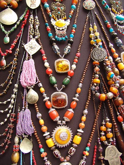 Colorful Jewelry in the market, The Medina (old city) 2007