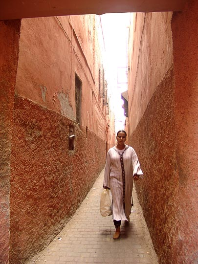 The entrance to the Jewish Quarter (Mallah), The Medina (old city) 2007