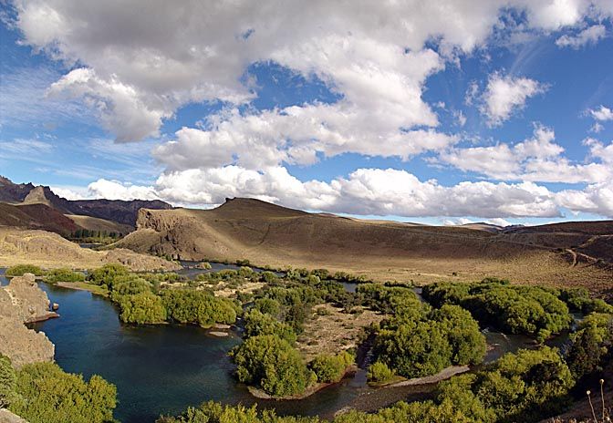 The Rio Limay landscape, the Neuquen province 2004