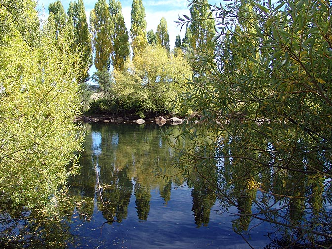 A reflection in Rio Rucachoroi, the Neuquen province 2004