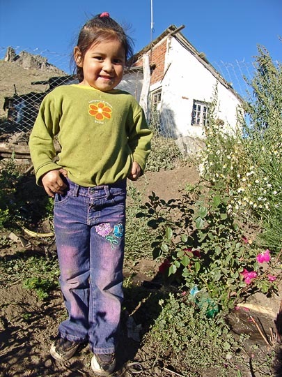 An Aucapan (Mapuche) Indian girl in Atreuco, the Neuquen province 2004