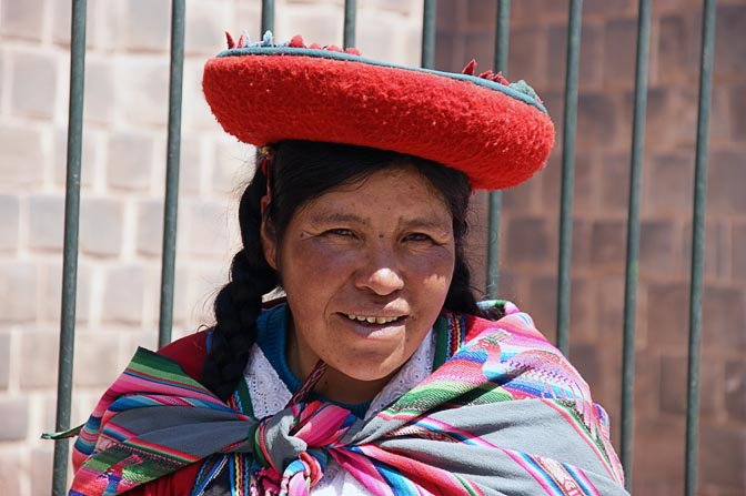 A Chola (local woman) with a red hat, Cusco 2008