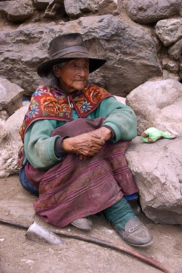 A local woman, Huayllapa 2008