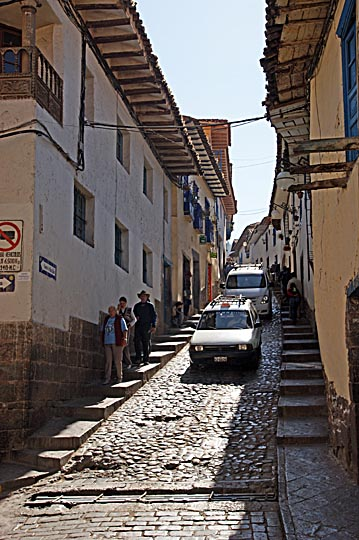 The steep, narrow streets of San Blas, Cusco 2008