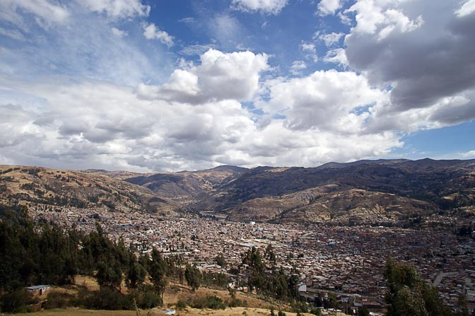 A view of the town of Huaraz, 2008