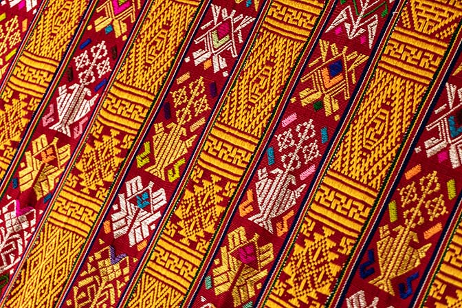 Traditional hand woven Bhutanese fabric, 2018