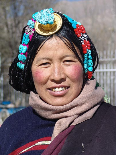 A Tibetan woman by the Norbulingka, Lhasa 2004