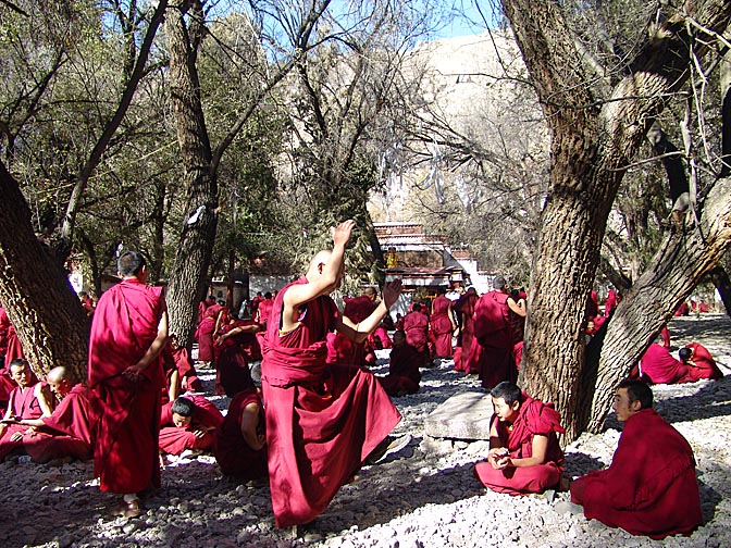 Debating monks in Sara Monastery, Lhasa 2004