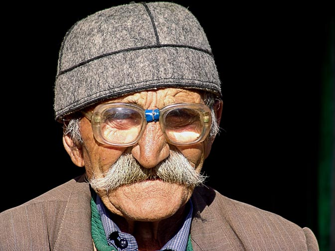 A local man in a Svan hat in Ushguli, Upper Svaneti 2007