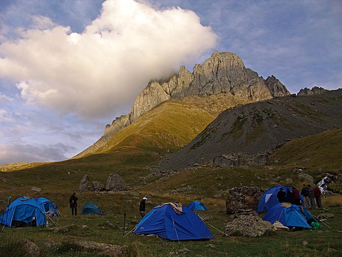Our campsite at the foot of Mount Chaukhi, Khevsureti 2007