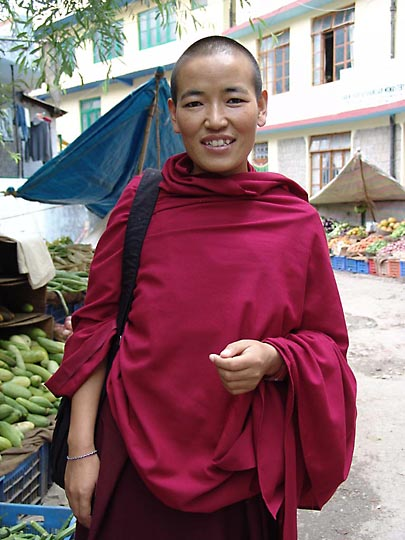 My next door neighbour Tibetan nun Wangdon, in McLeod Ganj, 2004