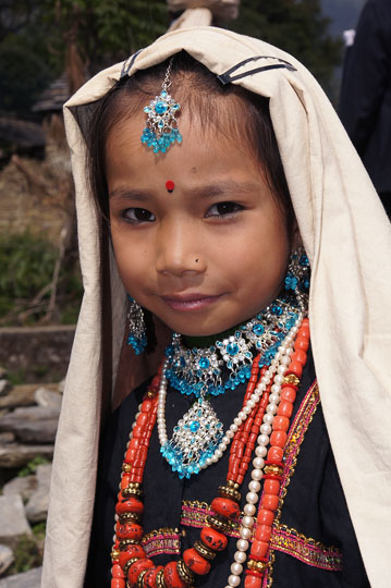 Traditionally dressed Rung girl, Roong-Teejya 2011