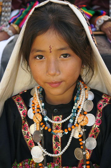 A girl in traditional clothing, Pangu 2011