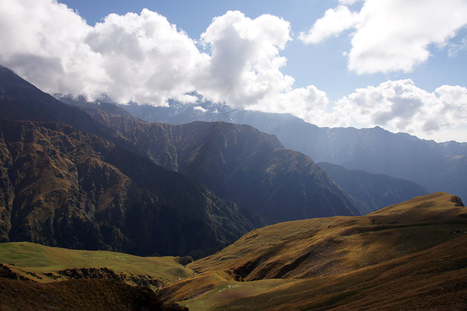 Primeval Garhwal landscape on the ascent from Bedni Bugyal, Roopkund trek 2011