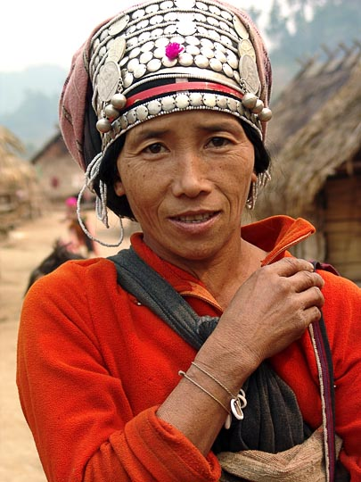 An Akha Hill Tribe woman in Ban Nammat Mai village, Luang Namtha District 2007