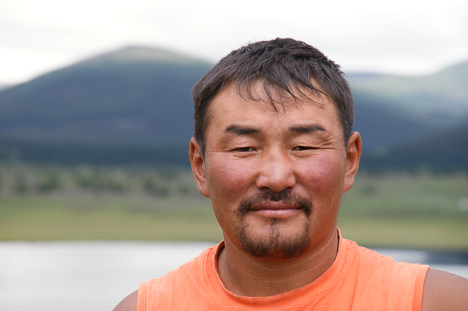 A man in Naiman Nuur (Eight Lakes) National Park, Orkhon Valley, Central Mongolia 2010