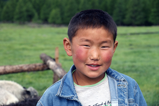 A boy in Naiman Nuur (Navel Eight Lakes) National Park, Orkhon Valley, Central Mongolia 2010