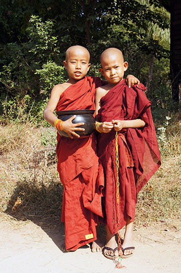Novices near the monastery at Salay, Bagan 2015