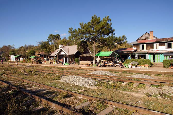 The trainstation, Kalaw to Inle Lake trek 2015