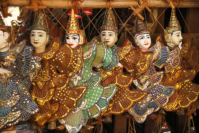 Traditional Myanmar marionette puppetry, Bagan 2015