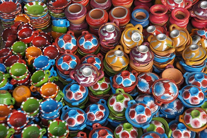 Colorful pottery, Bagan 2015