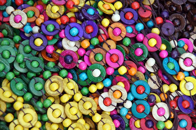 Colorful wooden beads, Bagan 2015