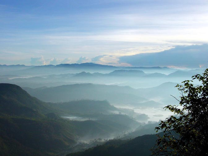 The morning mist from Adam's peak, 2002