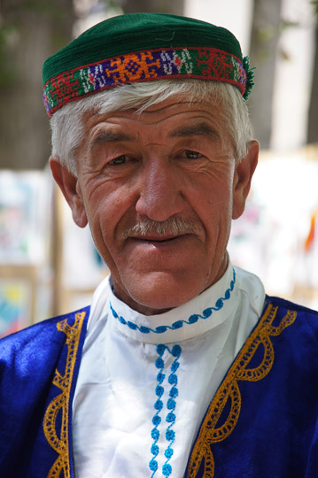 Man in traditional Pamiri attire, Khorog 2013