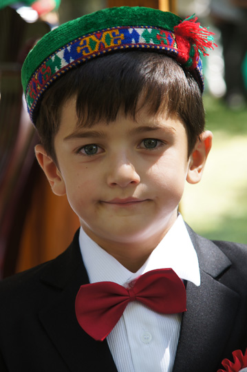 Boy in traditional Pamiri attire, Khorog 2013