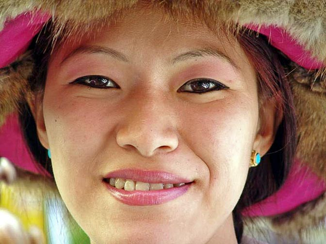 A Tibetan dancer at The Dalai Lama birthday ceremony, in the Temple in McLeod Ganj, Dharamsala, India 2004