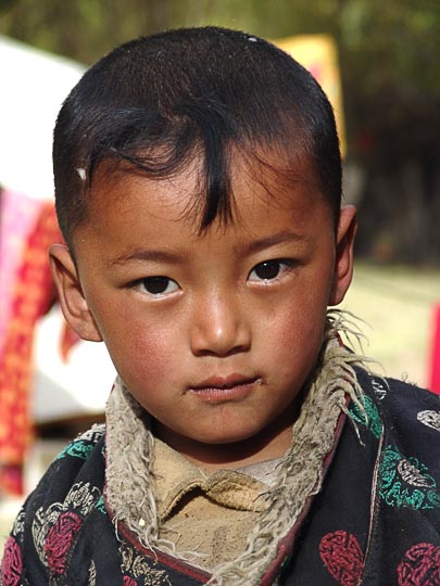 A Tibetan boy in Samyai Monastery, Tibet, China 2004