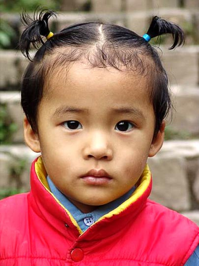 A Tibetan girl in McLeod Ganj, Dharamsala, India 2004