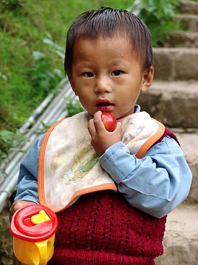 Tashi, my sweet neighbour in McLeod Ganj, Dharamsala, India 2004