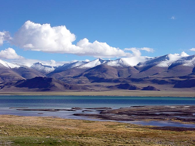The impressive view of the Tso Kar (lake) in Ladakh, India 2001