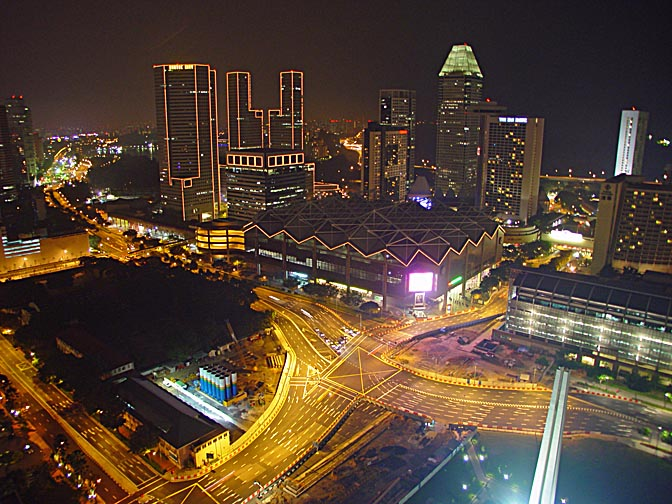 A view of Singapore at night, from the Swissotel, Singapore 2002