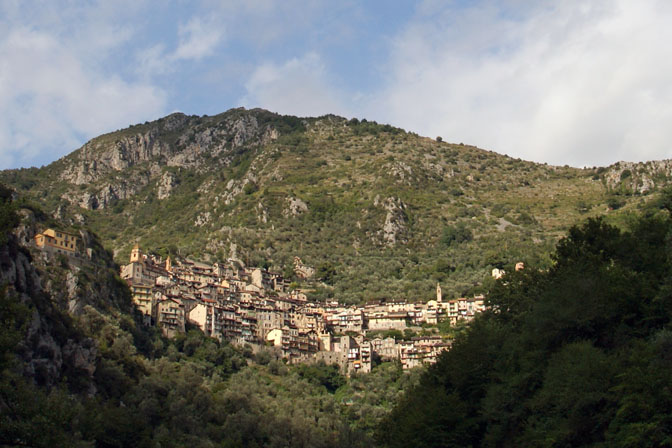 Saorge Village nestled in the Maritime Alps, France 2011