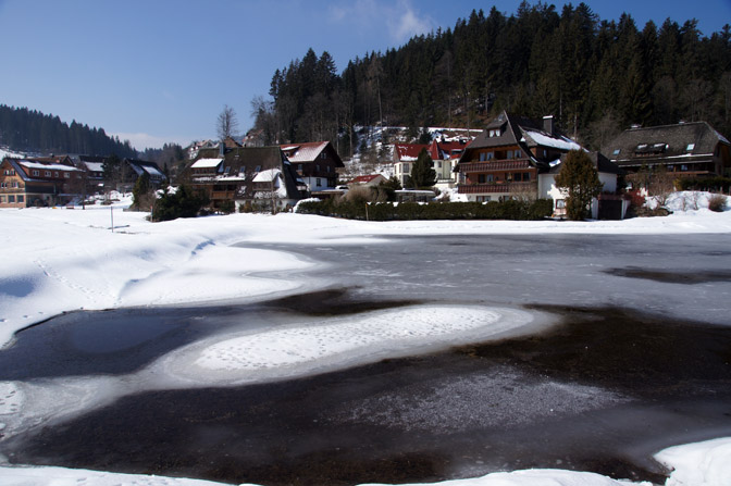 Hinterzarten village in snow, The Black Forest 2013