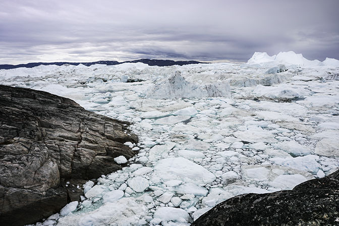 Pack of ice in Ilulissat Icefjord, 2017