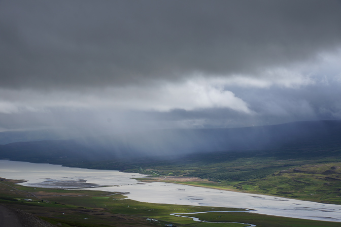Down pour in Fljotsdalur valley and lake Lagarfljot, 2012