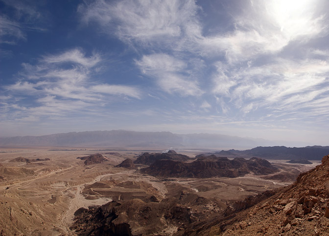 The view of Timna Valley from Timna Cliffs, The Israel National Trail 2009