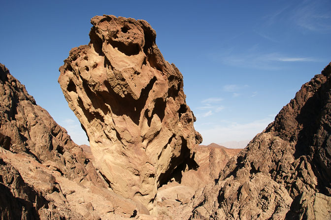 While climbing Alachson creek to the top of Mount Timna, The Israel National Trail 2009