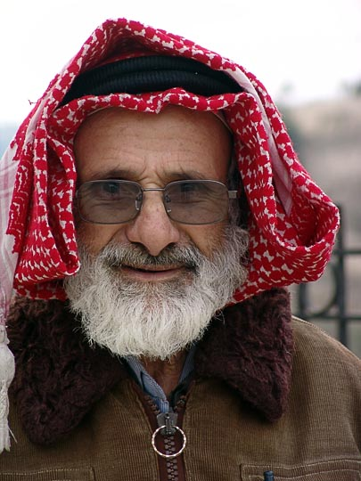 A Muslim man, Mount of Olives 2006